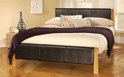 Buy Mira Black Leather Double Bed at Furniture Choice