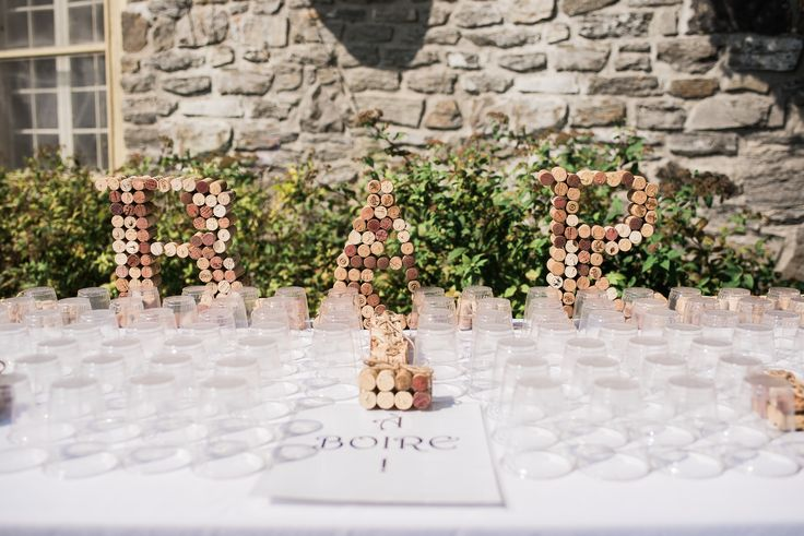 His & Hers cocktail area. BAR made of corks (put together with hot glue). Photo credit: https://www.pinterest.com/elisaphoto/