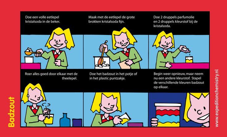 Badzout maken, leuk proefje voor kinderen op de basisschool!