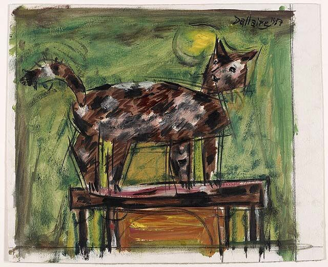 Jean Dallaire (Canadian, 1916 - 1965) - Cat, 1957 - National Gallery of Canada