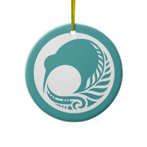 Kiwi Fern Disc Ornaments