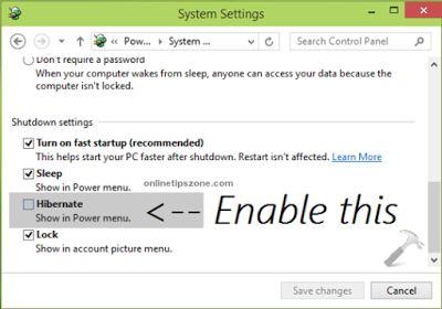 How to Setup #Hibernate option in Start menu of Windows 7, 8, 8.1 & 10