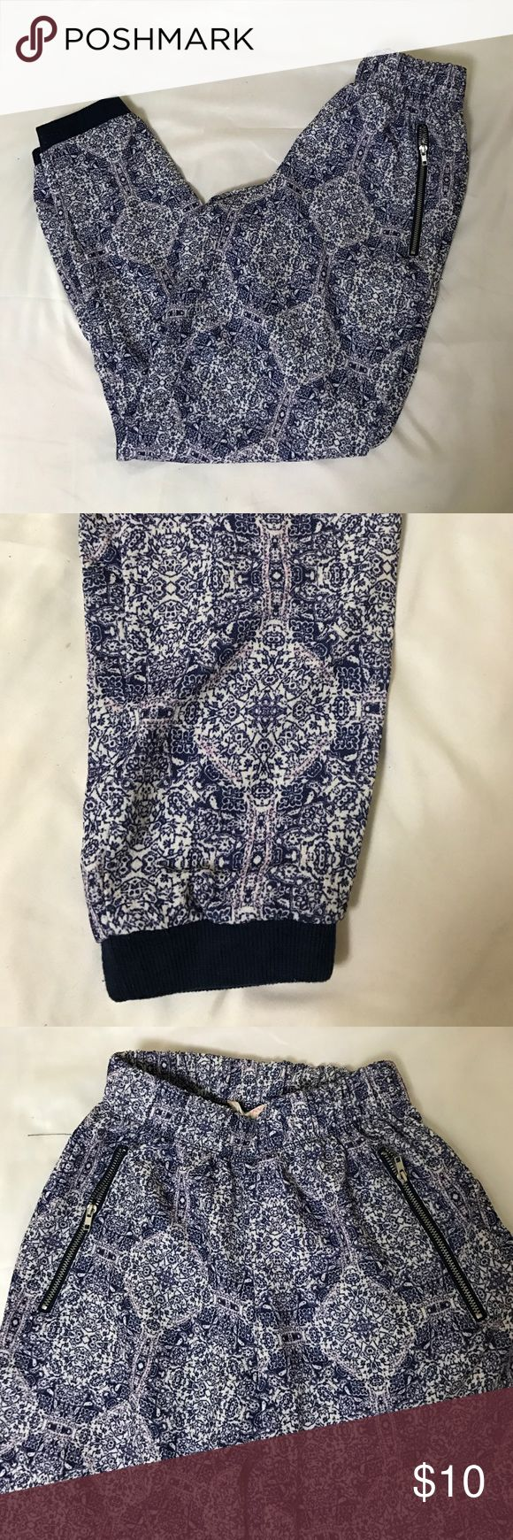 Boho Print Pants 98% polyester 2% spandex pants. Elastic waistband & elastic band on legs. From junior's section at Kohl's Pants Ankle & Cropped
