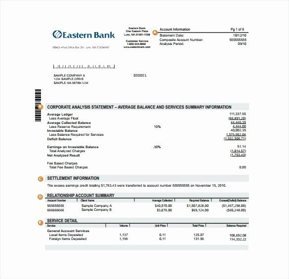 50 Awesome Bank Of America Statement Template In 2020 Bank
