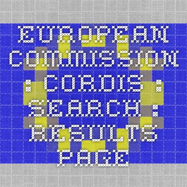 European Commission : CORDIS : Search : Results page