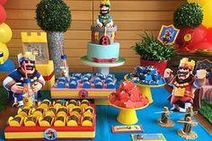 Aniversário de criança com tema Clash Royale