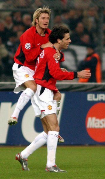 Beckham and Van Nistelrooy