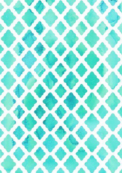 Patterns│Geometría - #Patterns aqua teal turquoise chain pattern