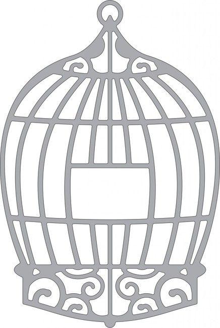 Cheery Lynn Bird Cage Die. Cheery Lynn Designs die featuring a birdcage. Size: 3 3/4 x 2 (95mm x 63mm)