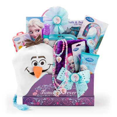 90 best gifts images on pinterest easter baskets gift basket and disney frozen gift basket surprise your little princess with a frozen themed gift negle Image collections