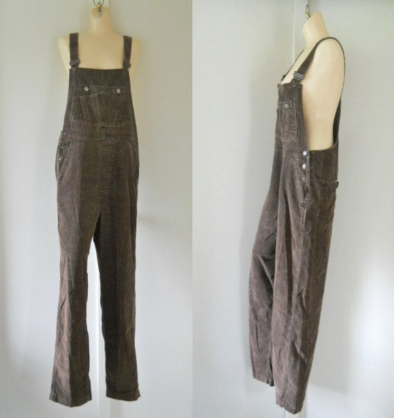 Women Overalls Corduroy Overalls Salopette by TheVilleVintage, $39.99