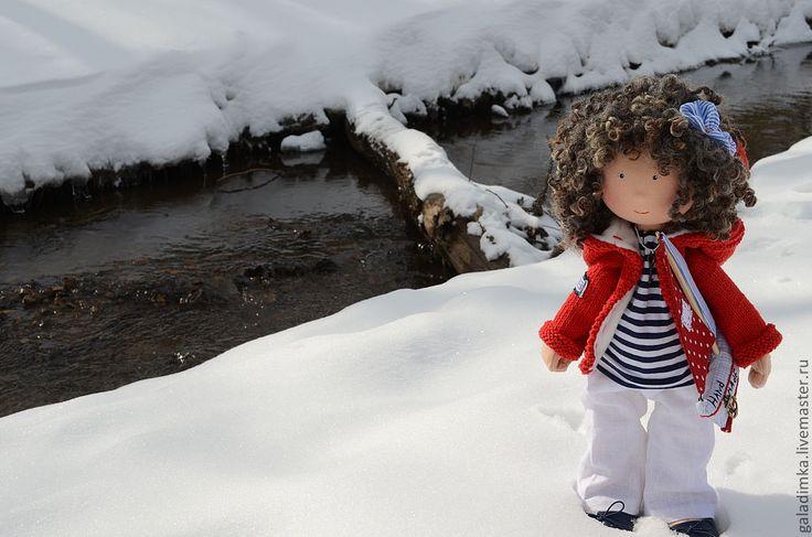 Купить Морячка Ассоль - ярко-красный, моряк, морячка, кораблик, текстильная кукла, текстильная игрушка