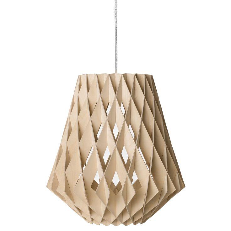 Pilke pendel från Showroom Finland, formgiven av Tuukka Halonen. En stor lampa i naturligt mate...