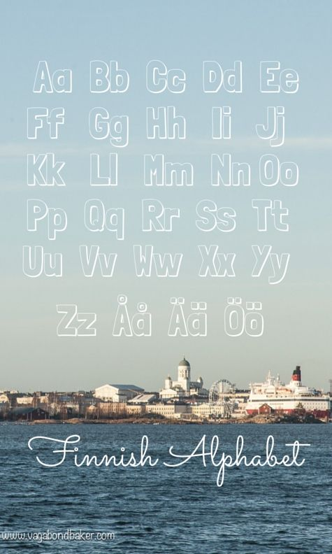 Finnish Alphabet // Suomi // 4 Things That Are Easy About Learning Finnish