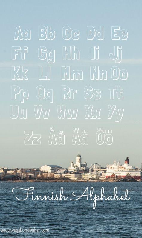 Finnish Grammar, Finnish Alphabet, learning Finnish