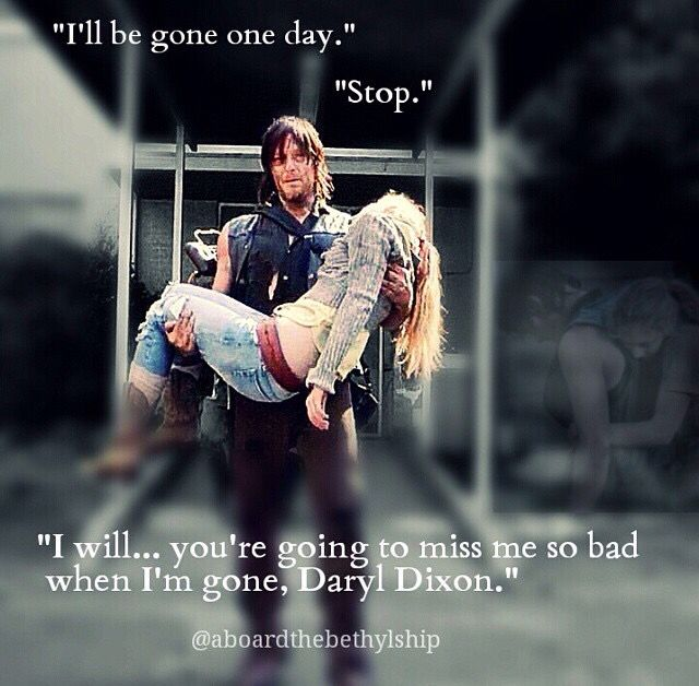 Beth Greene and Daryl Dixon quote