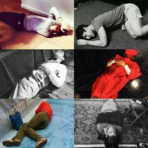 I am soo amazed at Darren's ability to sleep anywhere and that also without a pillow or anything on set