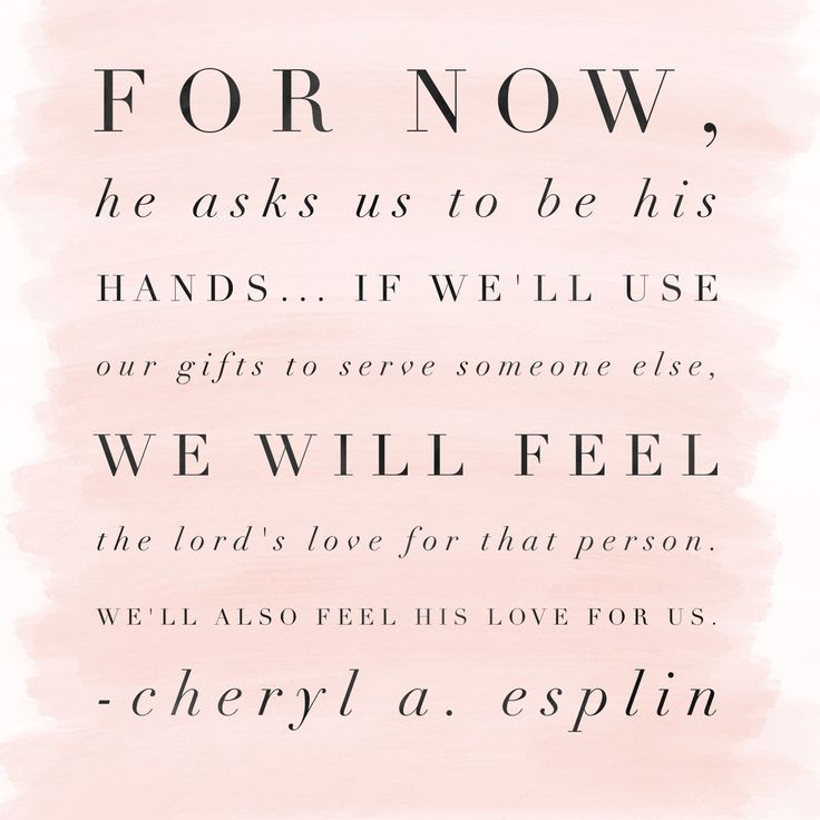 For now, He asks us to be His hands... if we'll use our #gifts to #serve someone…