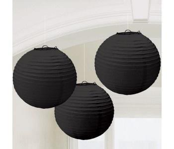 Black Paper Lanterns (3ct)