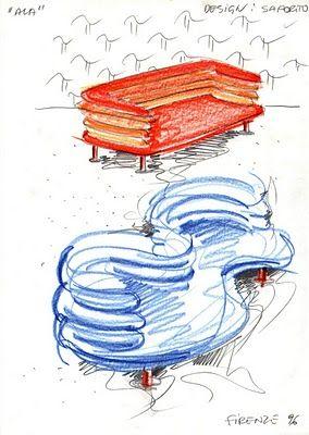 Vent'anni di disegni dell'Arch. Antonio Saporito: febbraio 2011 - divani creativi su misura