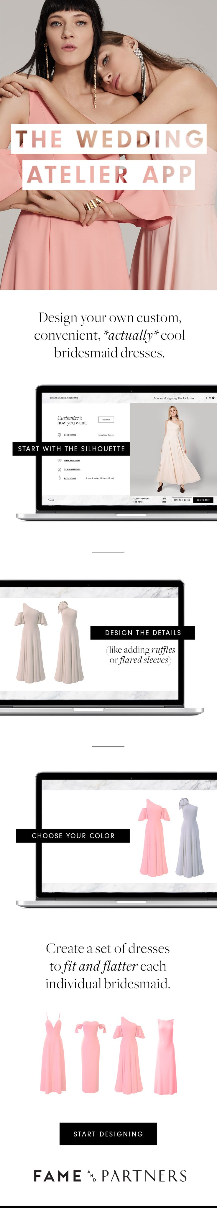 30 best fame and partners dresses images on pinterest alternative bridesmaid dresses customizable in 40000 waysonly with the wedding atelier app from fame and ombrellifo Gallery