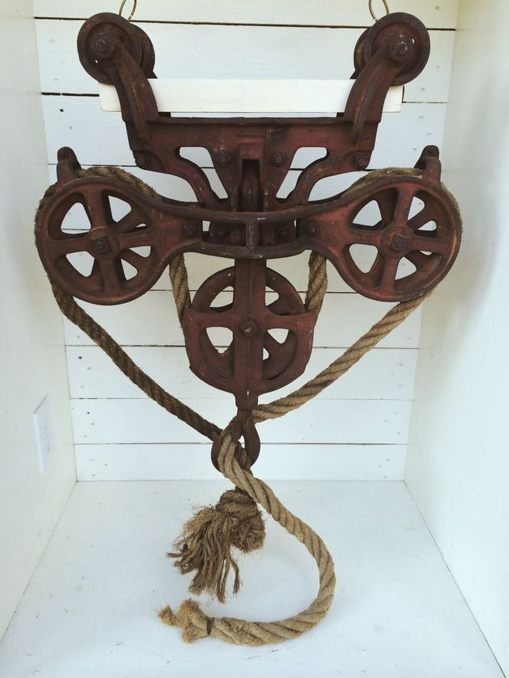 Antique+3+Wheel+Hay+Trolley+Barn+Pulley+Large+OK+Myers+?+NICE+Light+Vintage+