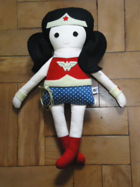 Wonder Woman - Fabric Rag Doll