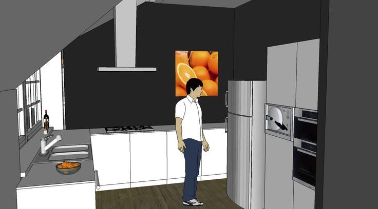 Keuken Woonboerderij 3D interieuradvies