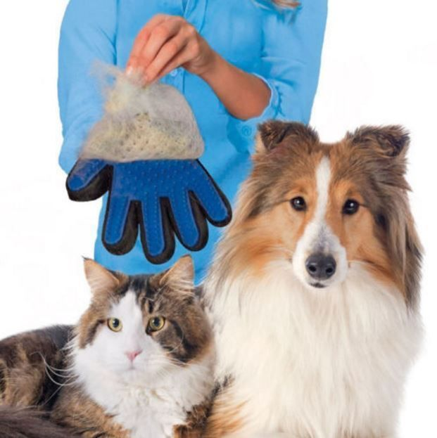 Amazing Five Fingers Glove Pet Grooming Tool To Remove Cat Dog Dirt Hair Dander #Unbranded