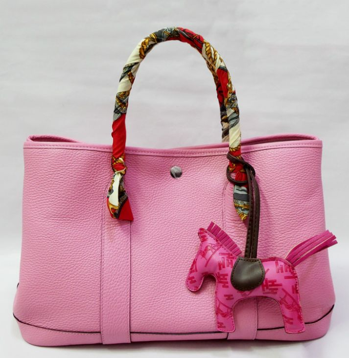 hermes bag, garden hermes bag. Cherry Pink Hermes Garden Party PM ...
