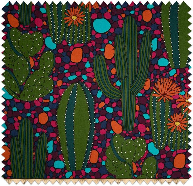Cactus Fabric, Mexican Fabric//Mexican Fabric//Latin Fabric//Mexico Fabric by SugarSkullFace on Etsy