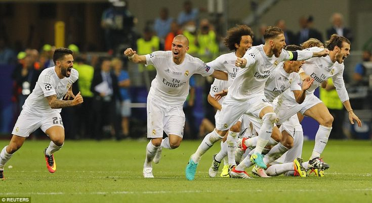 Real Madrid players celebrate and their joy will spill long into the night after the club ...