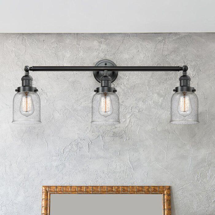 Nason Vintage 3 Light Dimmable Vanity Light Vanity Lighting Vanity Light Fixtures Bronze Bathroom