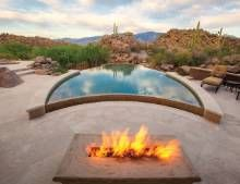 Designed To Draw The Eye Out To The Tucson Foothills, This Award Winning  Pool And Detached Spa From Patio, Pools U0026 Spas Are Both Finished With  Caribbean ...