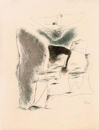 Josef Šíma Božská symfonie lept / etching, 1930
