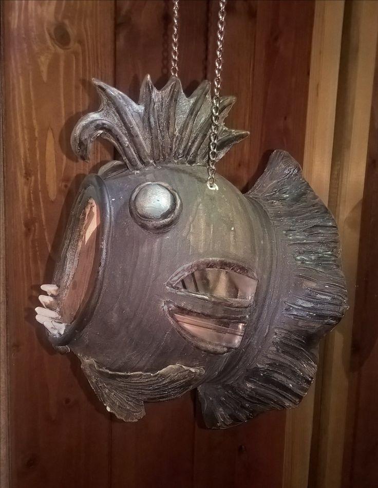 Ceramic fish for candle keramická ryba na svíčku