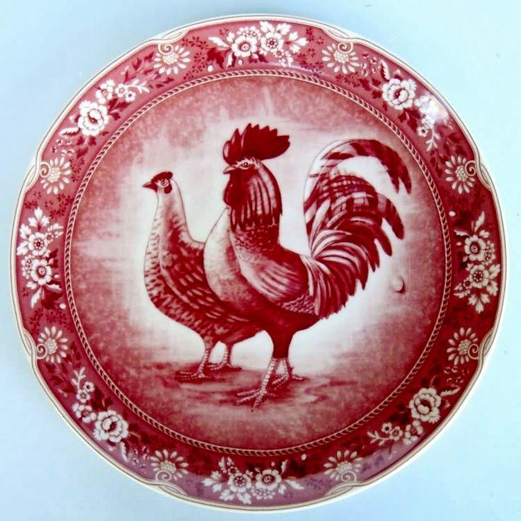 Red Rooster Plate. Rooster PlatesRed PlatesRooster KitchenRooster ...