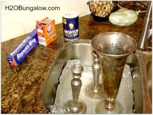 supplies needed to clean silver naturally--can pit the silver