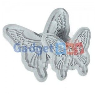 Fashion 2x Butterfly Cake Fondant Sugarcraft Cookie Cutters Decorating Mold