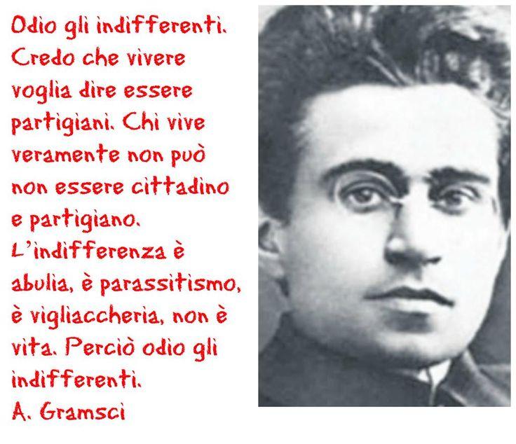 Credo che vivere voglia dire essere partigiani. #Gramsci #25AprOnAir