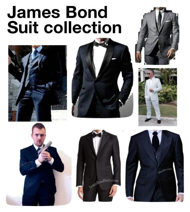 """""""james bond suit collection"""" by katrina-schuman on Polyvore featuring men's fashion and menswear"""