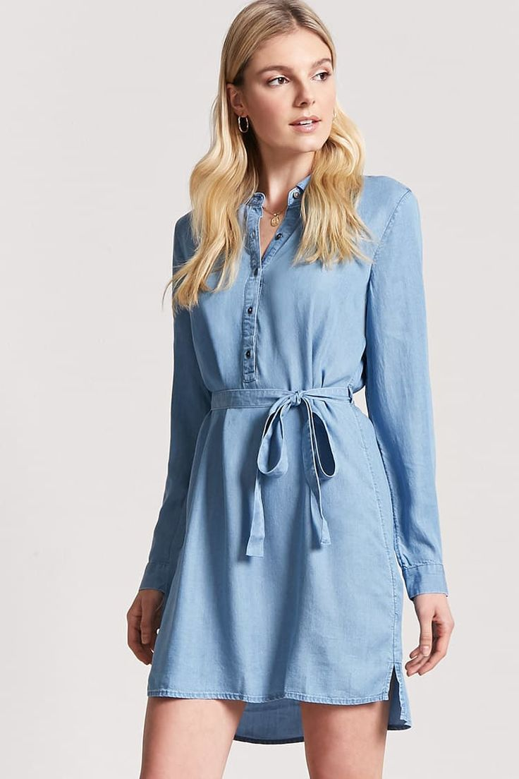 Product Name:Chambray Shirt Dress, Category:dress, Price:19.9