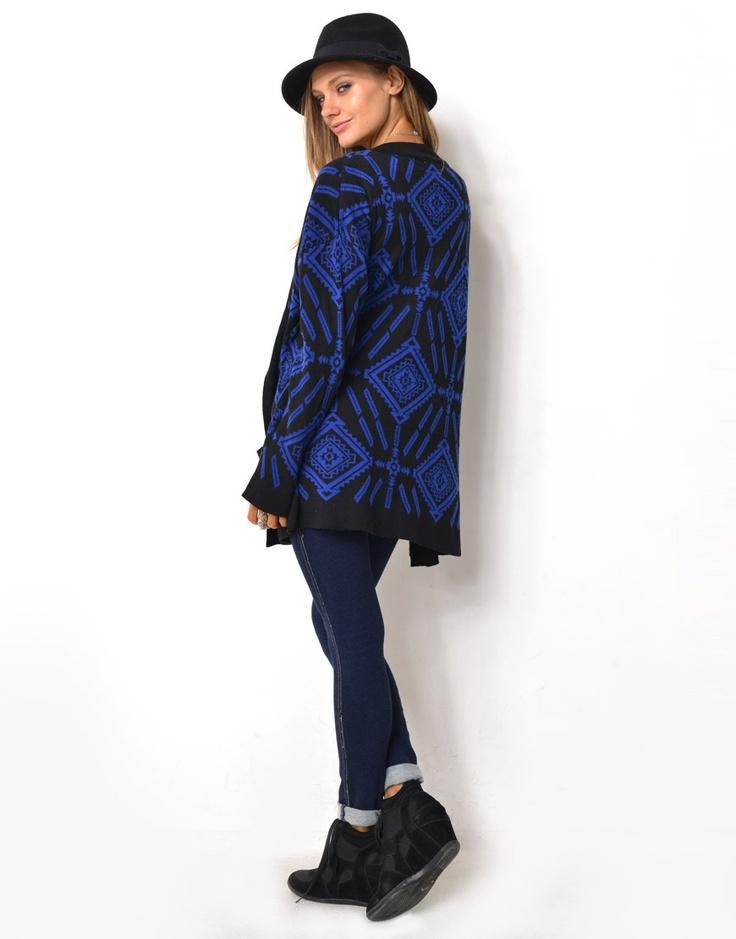 6320855 - Jacquard Knitted Cardigan