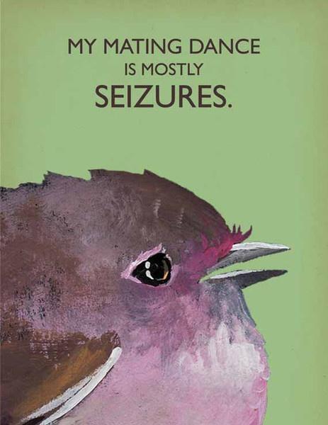 $3.50 The Mincing Mockingbird & The Frantic Meerkat — Mating Dance note card