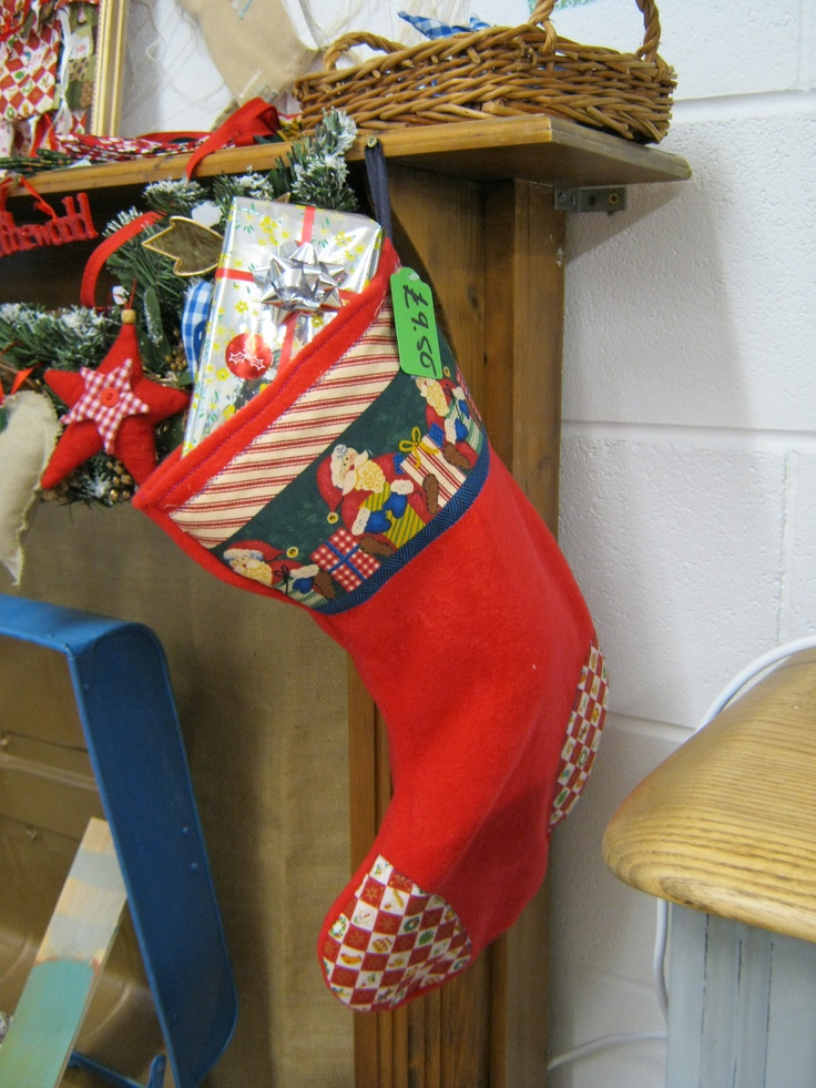 Christmas stockings made from fleece and cotton so washable, will last years £9.50
