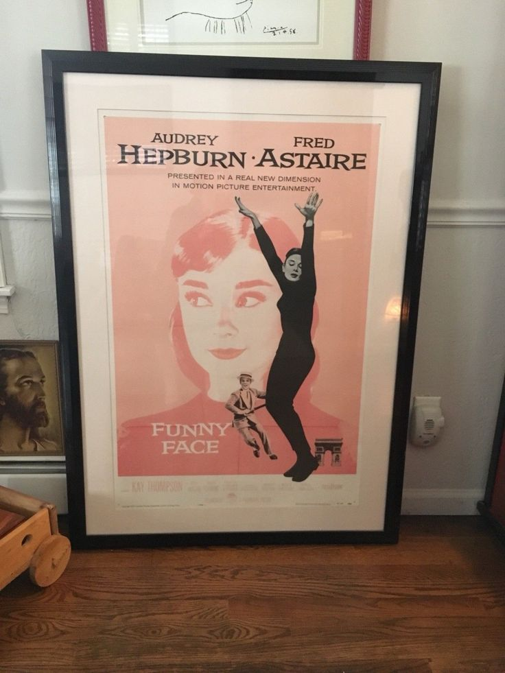 AUDREY HEPBURN FUNNY FACE ORIGINAL MOVIE POSTER 1957  FRAMED | Entertainment Memorabilia, Movie Memorabilia, Posters | eBay!