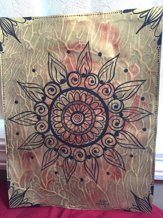 Metallic Mandala/hand by CLoTheArtist on Etsy