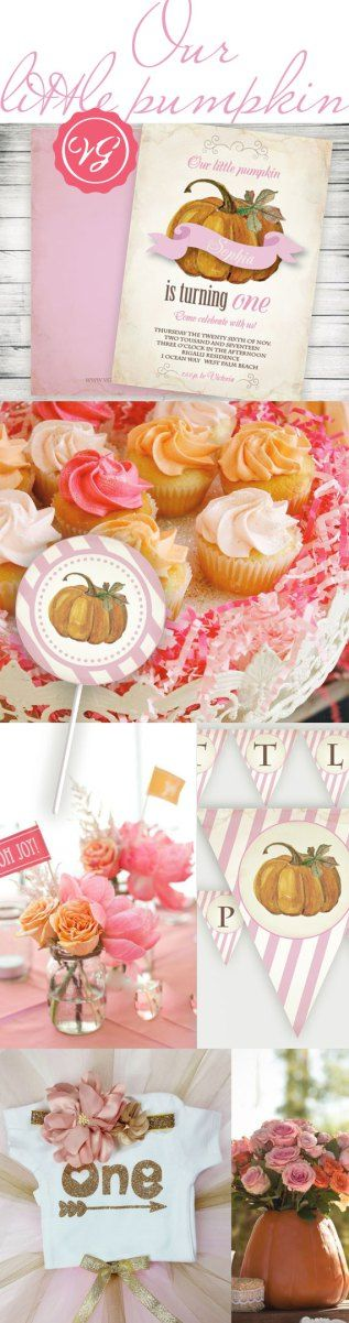 Our Little Pumpkin's First Birthday inspiration. October Birthday Party Ideas.