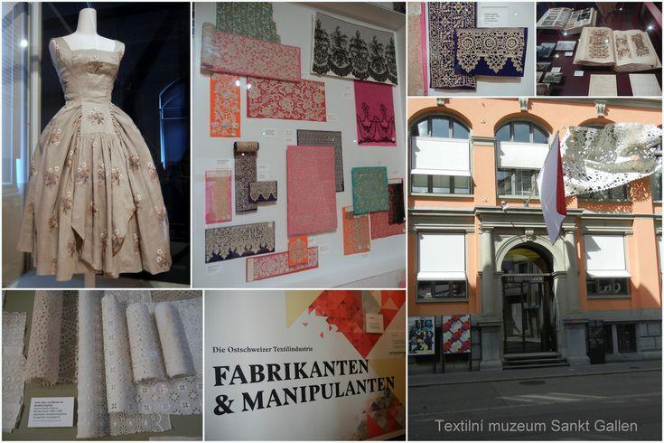 Sankt Gallen, Textilní muzeum, výstava Fabrikanten & Manipulanten, 2017
