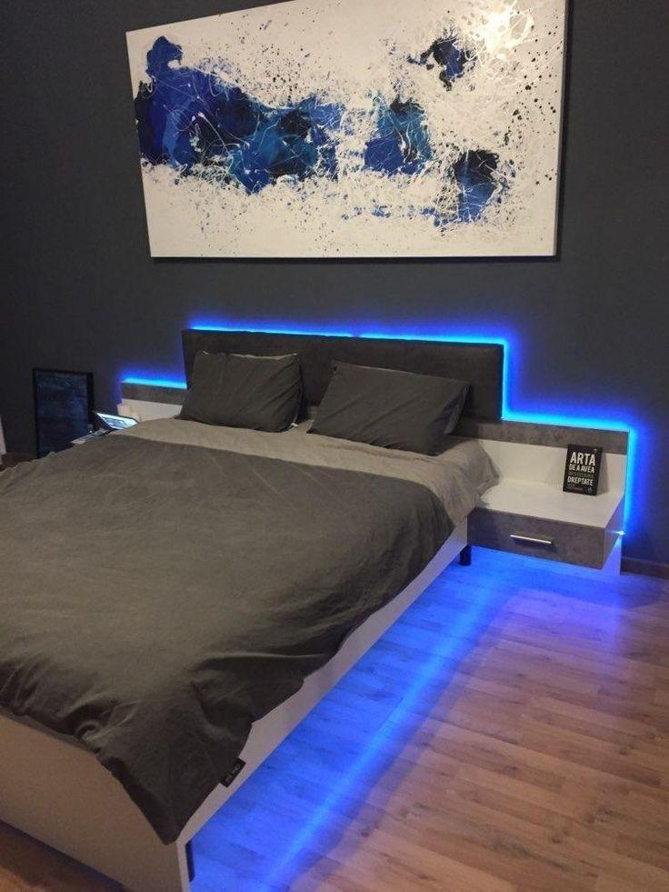 Led Strip Lights With Remote Cosmic Drip Boy Bedroom Design Led Lighting Bedroom Bedroom Setup